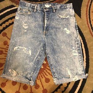 CUSTOM Vintage GUESS Distressed Denim Shorts